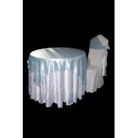 قلفتی سفید با اطلسی ساتن آبی