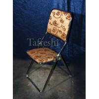 صندلی تاشو کرم قهوه ای