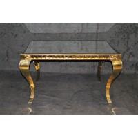 میز پایه طلایی با صفحه آینه