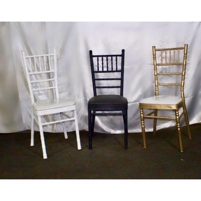 صندلی شیواری سفید مشکی طلایی